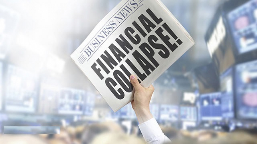 Newspaper With Financial Collapse